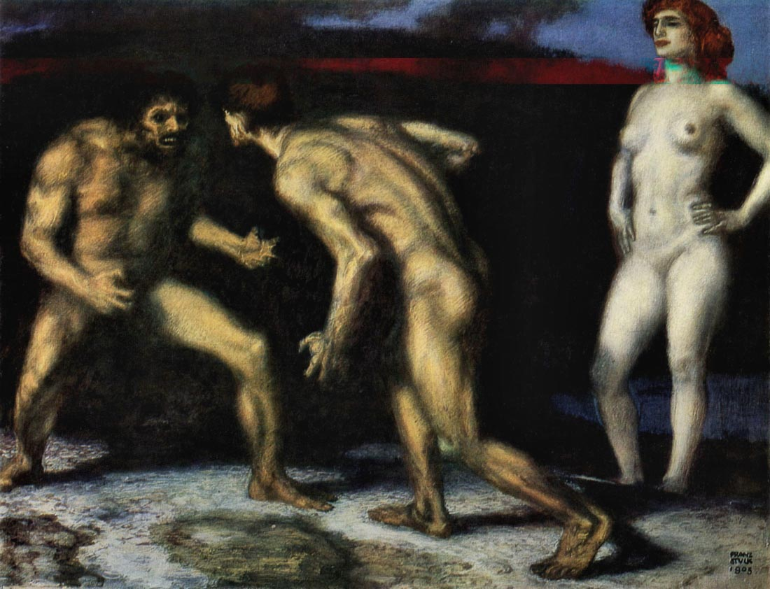 The struggle for women [1] - Franz von Stuck